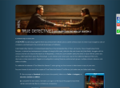Win a copy of True Detective on Blu Ray
