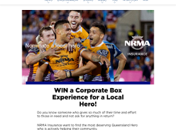 Win a Corporate Box Experience for a Local Hero