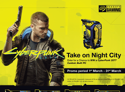 Win a CyberPunk 2077 PC or 1 of 3 Seagate/CyberPunk Drives