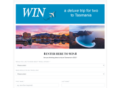 Win a deluxe trip for two to Tasmania!