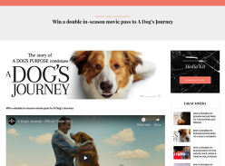 Win a Double in-Season Movie Pass to A Dog's Journey