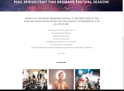 Win a double pass to every show at the Courier Mail Spiegeltent