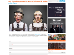 Win a double pass to see Hansel & Gretel @OperaQ