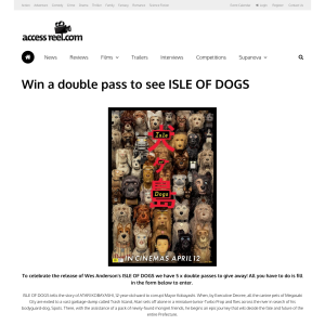Win a double pass to see Isle of Dogs