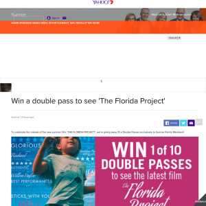Win a double pass to see 'The Florida Project'
