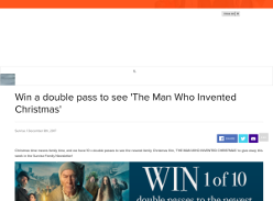 Win a double pass to see 'The Man Who Invented Christmas'