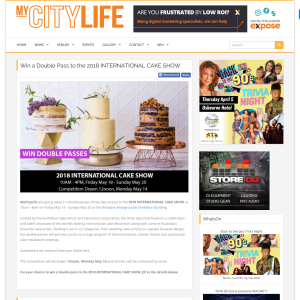 MyCityLife - Win a Double Pass to the 2018 International Cake Show