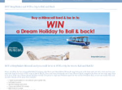 Win a dream holiday to Bali & back!