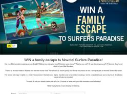 Win a family escape to Novotel Surfers Paradise