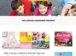 Win a Family Glamping Package at The Langham Melbourne