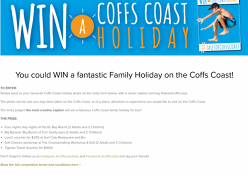Win a Family Holiday on the Coffs Coast!