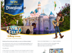 Win a family holiday to Disneyland, California!