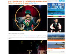 Win a family pass The Funatorium: Mad Hatter's Tea Party