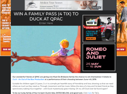 Win a Family Pass  tix to Duck at QPAC