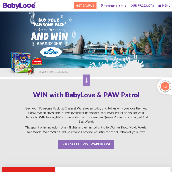 Win a Family Sea World Holiday