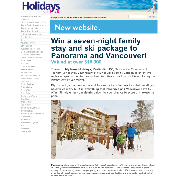 Win a Family Trip to Canada