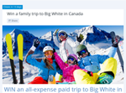 Win a family trip to Canada!