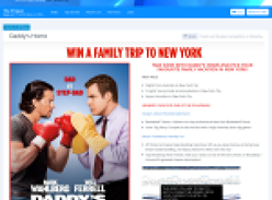 Win a family trip to New York!