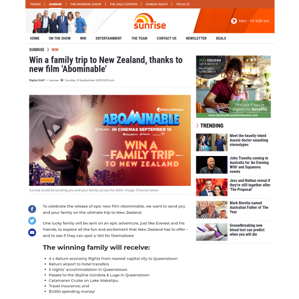 Win a family trip to New Zealand!