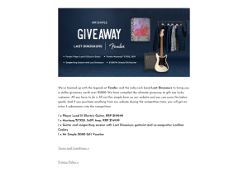 Win a Fender Player Lead III Electric Guitar & $1,500 Mr Simple Voucher from Mr Simple