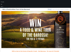 Win a Food & Wine Tour of the Barossa