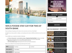 Win a Foodie Staycation for 2