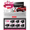 Win a Ford Focus Trend, 1 of 3 Trek Edmonda S6 Bikes or 1 of 10 $500 Flight Centre gift cards!