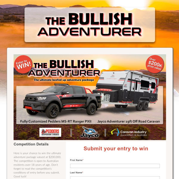 Win a Ford Ranger & a Jayco Adventurer Off-Road Caravan