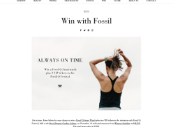Win a Fossil Q Smartwatch + 2 VIP tickets to the Fossil Q Festival!