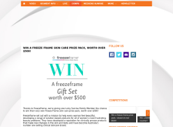 Win a Freeze Frame prize pack