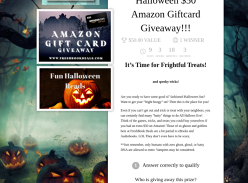 Win a Fresh n' Spooky Halloween Amazon Giftcard