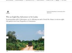 Win a G Adventures Sri Lanka Express Tour for 2