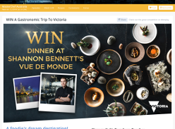 WIN A Gastronomic Trip To Victoria