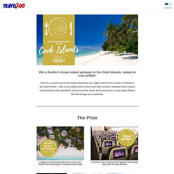 Win a Getaway For 2 to The Cook Islands