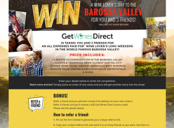 Win a Getaway to the Barossa Valley for 4