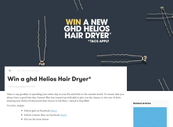 Win a ghd Helios Professional Hair Dryer