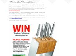 Win a Global Knife set
