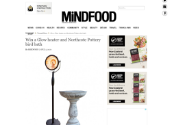 Win a Glow heater & Northcote Pottery bird bath!