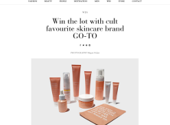 Win a GO-TO Skin Care Pack
