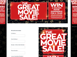 Win a Golden Movie Experience for a year!