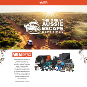 Win a 'Great Aussie Escape' Prize Package