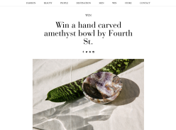 Win a Hand Carved Amethyst Bowl