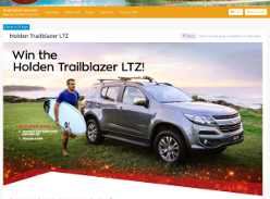 Win a Holden Trailblazer LTZ