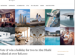 Win a holiday for 2 to Abu Dhabi worth over $18,000!