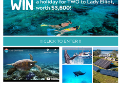 Win a holiday for 2 to Lady Elliot Island!