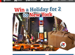 Win a holiday for 2 to New York!