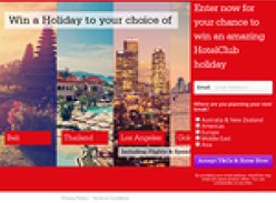 Win a Holiday to your choice of Bali, Thailand, LA. Gold Coast
