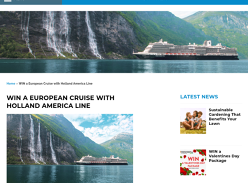 Win a Holland America Line Amsterdam Cruise for 2