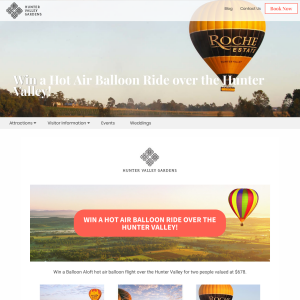 Win a Hot Air Balloon Ride over the Hunter Valley