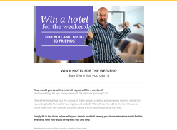 Win a hotel for 50 people for the weekend